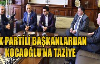 AK Partili Başkanlardan Taziye Ziyareti