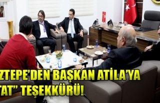 Göztepe'den Başkan Atila'ya 'Stat' Teşekkürü