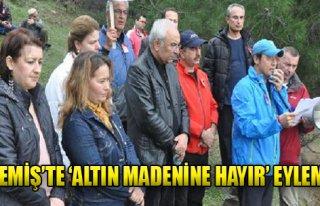 'Altın Madenine Hayır' Eylemi