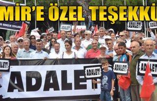 Adalet Mitingi İçin İzmir'e Özel Teşekkür