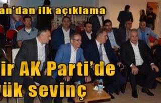 İzmir AK Parti'de Büyük Sevinç