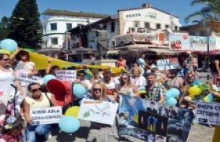 Antalya'da Putin Protestosu