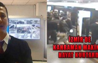 İzmir'de Kahraman Makinist Hayat Kurtardı