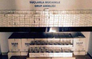 Saman Altında 12 Bin 500 Paket Kaçak Sigara