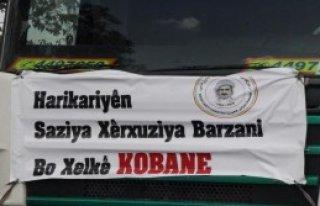 Barzani'den Kobani'ye 12 TIR'lık Yardım