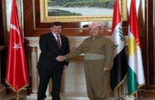 Başbakan Davutoğlu, Barzani İle Görüştü