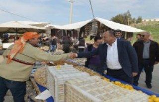 Başkan Arslan Pazar Yerlerini Gezdi
