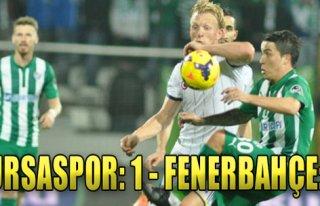 Bursaspor:1 - Fenerbahçe:1