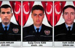 Bitlis'te Şehit Polislere Tören