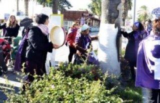 Kadına Şiddete Tefli Protesto