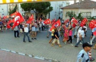 Burhaniye'de Terörü Protesto