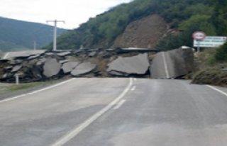 Karabük'te Heyelan Tehlikesi