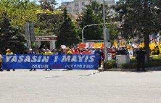 Çorum'da 1 Mayıs Kutlaması