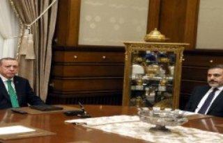 Cumhurbaşkanı, Hakan Fidan'ı Kabul Etti