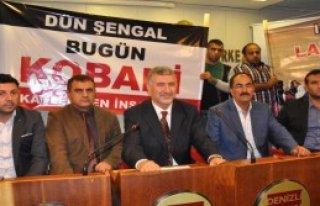 Denizli'de IŞİD Protestosu
