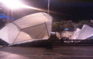 Fırtına, Çadırları Uçurdu