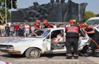 Gaziantep'te Yangın Söndürme Ve Kurtarma Tatbikatı