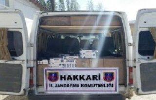 Hakkari'de 37 Bin Paket Kaçak Sigara Ele Geçirildi