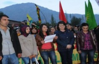 Hakkari'de Kobaniye Destek Yürüyüşü