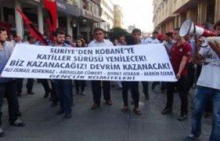 Kobani'ye Destek Eyleminde 12 Gözaltı