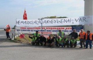 Hema'da İşçileri Eylemde