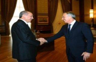 Tony Blair Cumhurbaşkanlığı Sarayı'nda