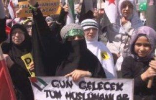 İstanbul'da Mısır Protestosu
