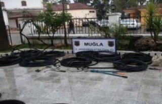 Kablo Hırsızlarını Ayak İzlerinden Yakalandı