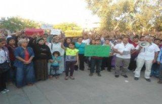 Kahta'da Işid Protestosu
