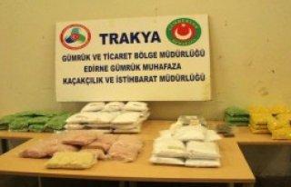 Kapıkule'de 12.3 Milyon Liralık Uyuşturucu Ele...