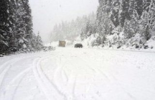 Kar, Yaralıgöz'de Ulaşımı Aksattı