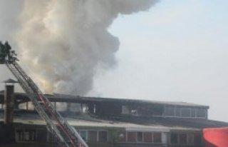 Kazan Patladı, Fabrikada Yangın Çıktı