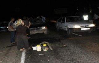 Otomobil, At Arabasına Çarptı: 4 Yaralı