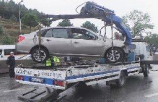 Otomobil Takla Attı, Sürücü Yaralandı
