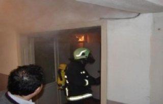 Çarşı'da Korkutan Yangın