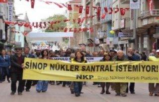 Sinop'ta 'Nükleere Hayır' Mitingi