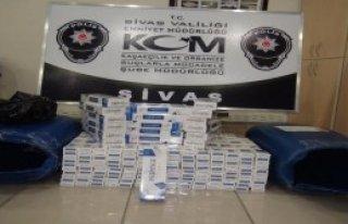 Sivas'ta 270 Bin 600 Paket Kaçak Sigara Ele Geçirildi