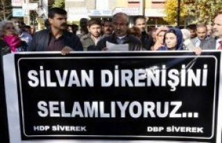 HDP'lilerden Silvan Protestosu