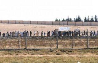 Suriye Sınırındaki Telabyad'da Eylem