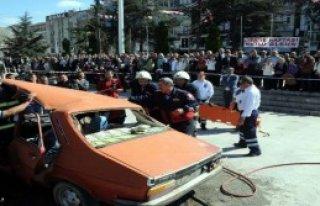 Tokat'ta İtfaiyeden Yangın Tatbikatı