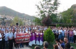 Tunceli'de Kobani'ye Ağıtlı Destek