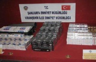 Viranşehir'de Kaçak Sigaraya 2 Gözaltı