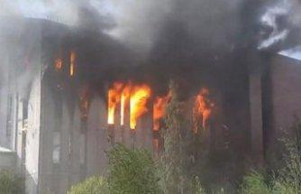 Bir yangın haberi de Rusya'dan!