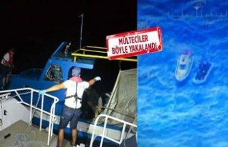Dikili'den kaçmaya çalışan mültecileri Sahil Güvenlik yakaladı!