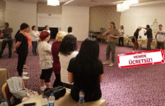 Emekli askeri eğitmenden İzmirli kadınlara 'savunma' kursu