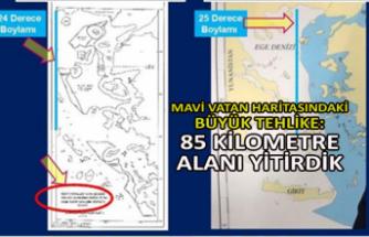 Mavi Vatan haritasındaki büyük tehlike: 85 kilometre alanı yitirdik