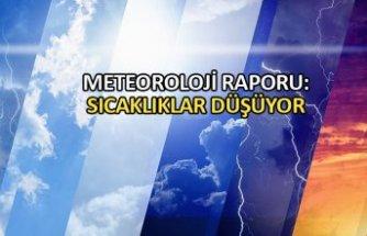 Meteoroloji raporu: Sıcaklıklar düşüyor