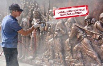 Torbalı'da bulunan heykeller için bakım ve yenileme çalışmaları başlatıldı.