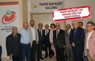 Yazar Fakir Baykurt Çiğli'de etkinliklerle anıldı