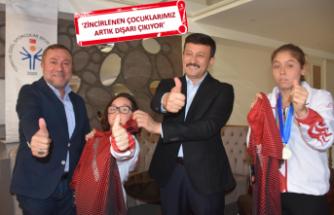 AK Partili Dağ'dan özel sporculara destek